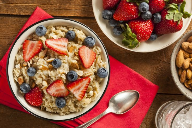Oatmeal:  Yep! Top your oatmeal with some blueberries to make a super-superfood. Oatmeal helps aid digestion, increase metabolism, and even lower cholesterol, not to mention it tastes amazing. Aim for natural oatmeals, without added sugar, for your best bet in the morning.