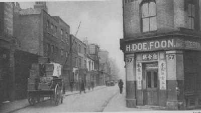 Road leading from West India Dock Rd towards Poplar high street