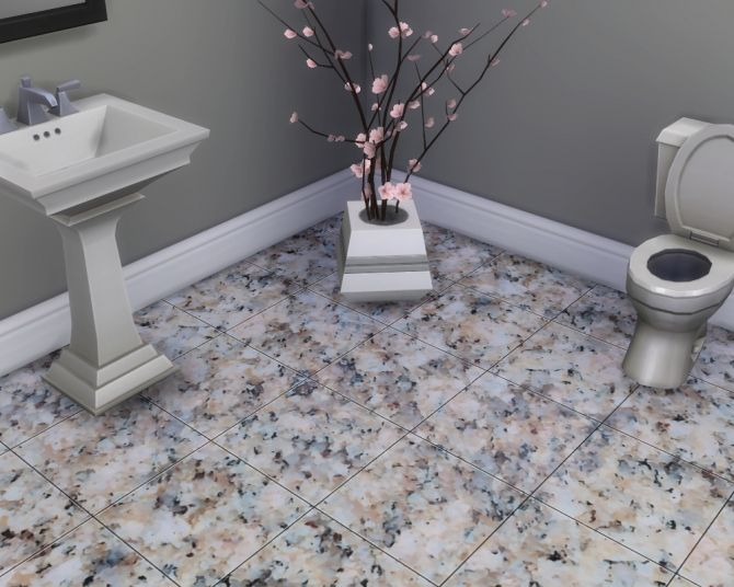 Glossy Granite Floor Tiles by Madhox at Mod The Sims • Sims 4 Updates