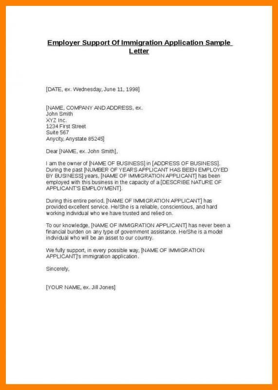 Letter Of Support For Immigration Check more at   - letter of support sample