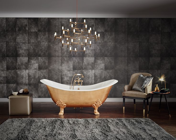 New premium finishes: Bathtubs with hand gilded exterior in gold, silver and cop