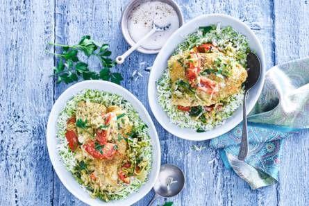 13 augustus - Broccolirijst + tomaten in de bonus = Indiaas gekruide vis en tomaatjes uit de oven -recept- Allerhande