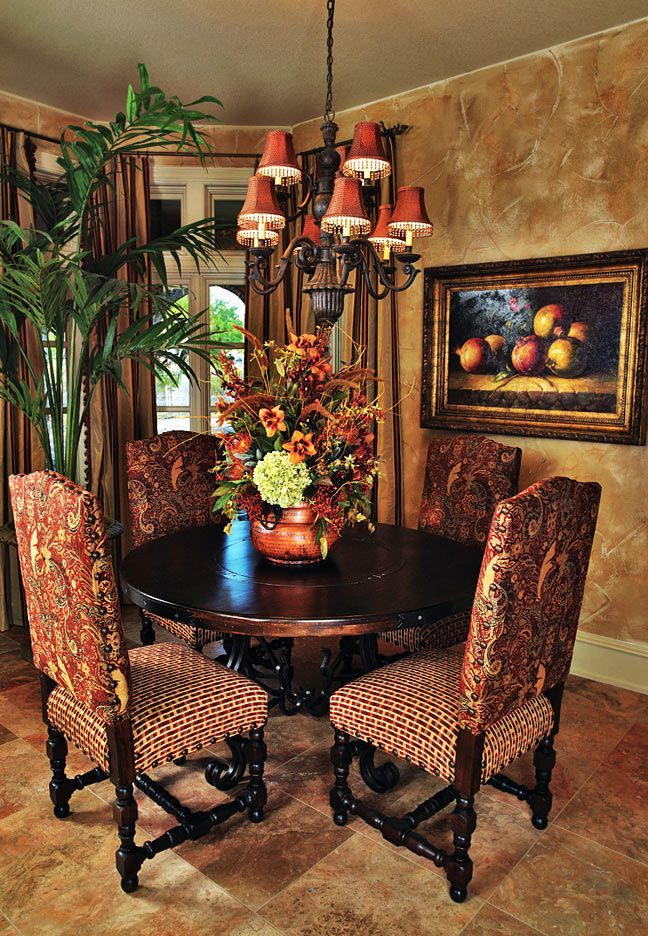NOTE:  Center piece works!  Home Interior Decorator Dallas | Interior Decorating Dining Rooms | Wesley-Wayne Interiors