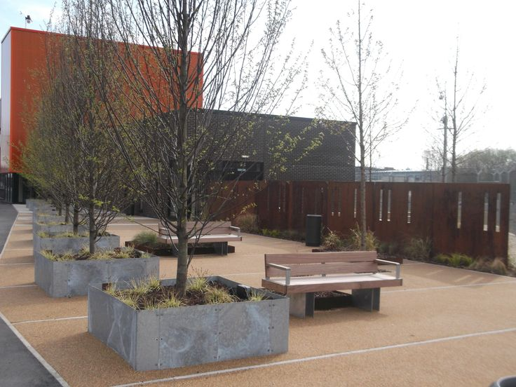 Heavy duty galvanised steel planters are durable and low maintenance. Perfect for containing small trees or shrubs