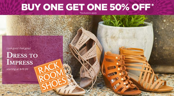 Online Only! Buy One Get One 50% #Off 2nd Pair.  Store : #RackRoomShoes Scope: Entire Store   Ends On : 04/30/2017  Get more deals: http://www.geoqpons.com/Rack-Room-Shoes-coupon-codes  Get our Android mobile App: https://play.google.com/store/apps/details?id=com.mm.views    Get our iOS mobile App: https://itunes.apple.com/us/app/geoqpons-local-coupons-discounts/id397729759?mt=8