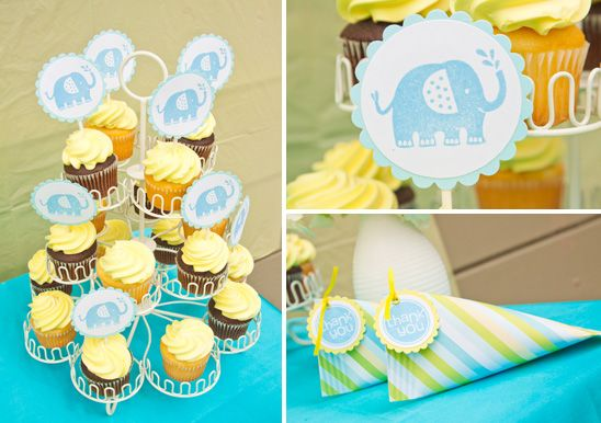 elephant theme or no, I've got to do food tags with this exact scalloped circle shape. love.
