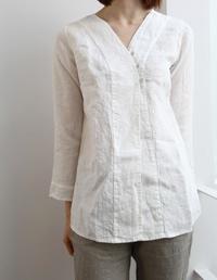 blouse, linen - lino e lina