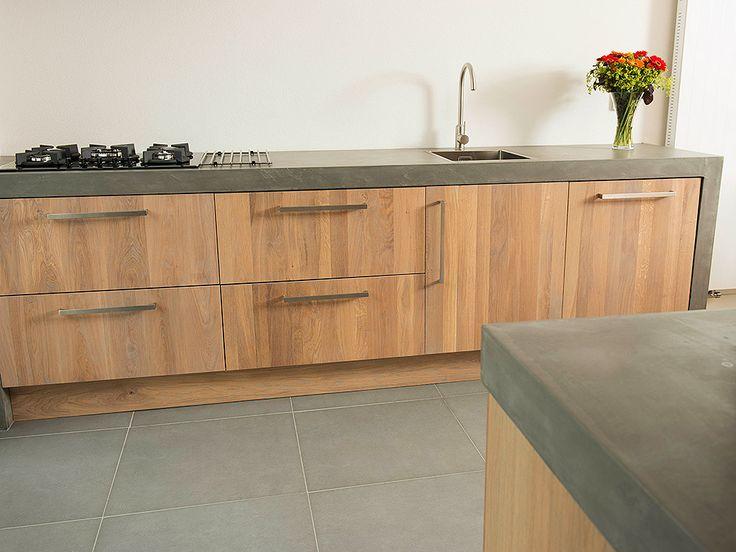 Eikenhouten keuken greywash