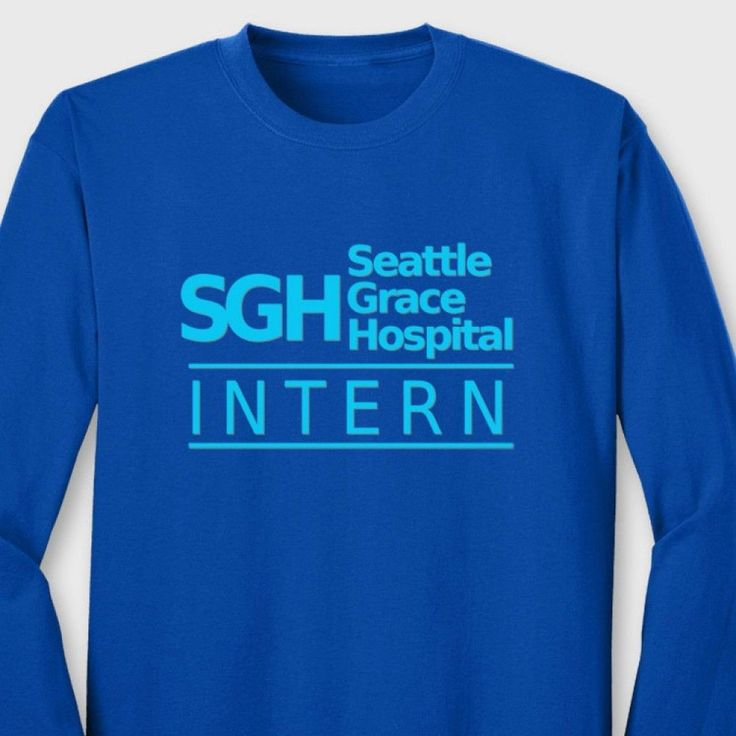 SGH Intern Greys Anatomy TV Show T-shirt Seattle Grace Hospital Long Sleeve Tee #TheShirtGeek