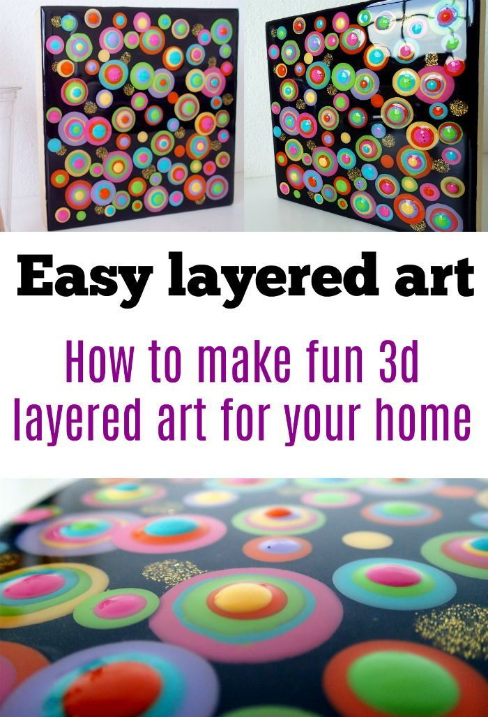 fun blob or circle painting idea layers of paints give a