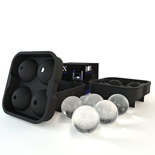 Charola para hielo esférico Rox, el mejor y más original molde para crear esferas de hielo de 4x4.5 cm, Negro (2 - Paquete Rox Doble) Rox http://www.amazon.com.mx/dp/B00MX59NMQ/ref=cm_sw_r_pi_dp_S-c.vb0YP8WM6