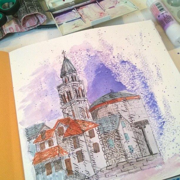 collage, markers, watercolors. graphic arts.  #art_craft #irina_kutuzova