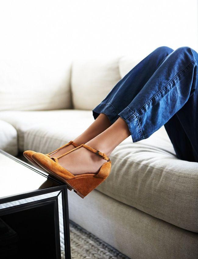 Wanted : des sandales ocre à porter avec un jean indigo