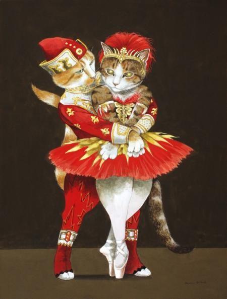 ballet HET KOMT ZO LEUK OVER,DEZE VINTAGE KAART,...............................LB.