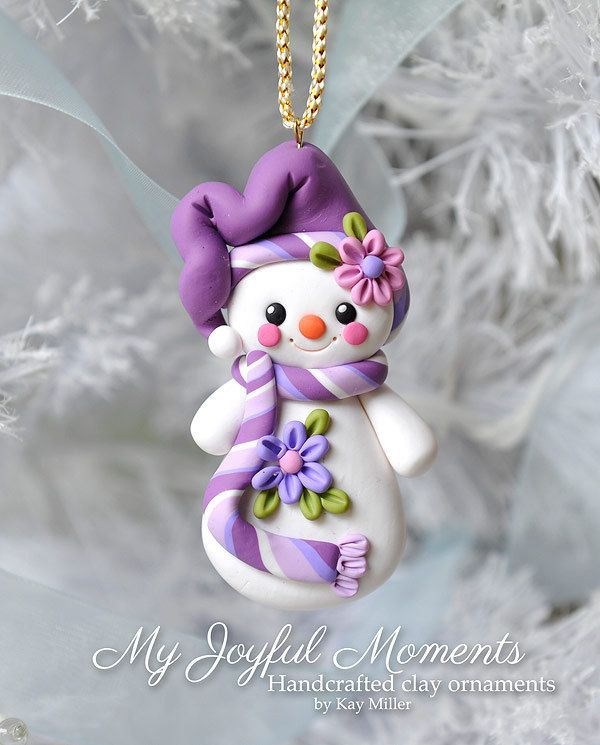 This is s one of a kind, handcrafted ornament made of durable polymer clay, with much attention given to detail and careful construction. No molds have been used, so you can be sure you are receiving a unique and one of a kind keepsake.    This ornaments measures approximately 1 1/2 nches wide by 2 3/4 inches tall not including the ribbon hanger. The item in the photo is the exact item you are purchasing and will receive, as I do not like to create the same thing twice :)    This beautiful…
