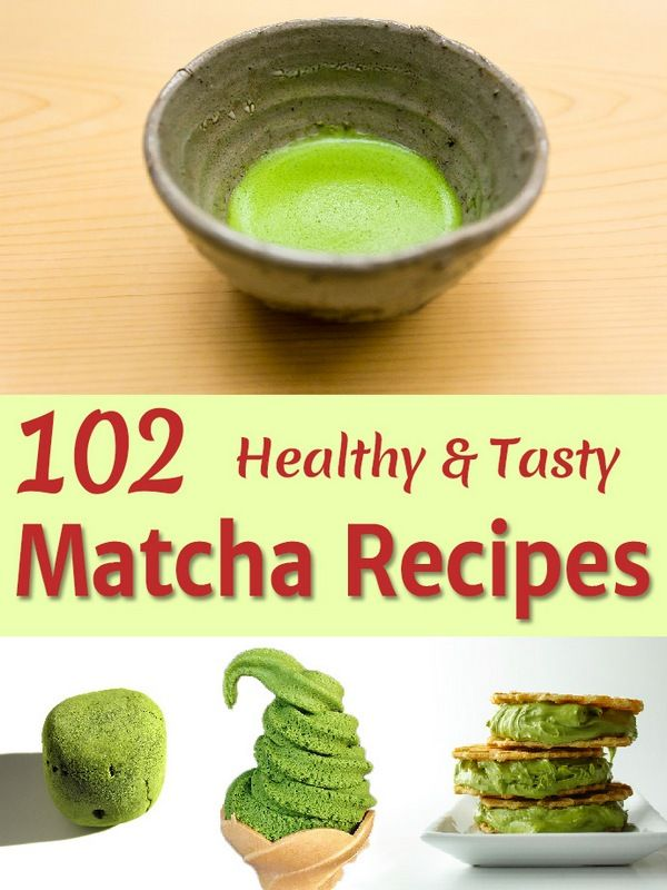 So many matcha green tea powder recipes and they all look so amazing! And healthy!