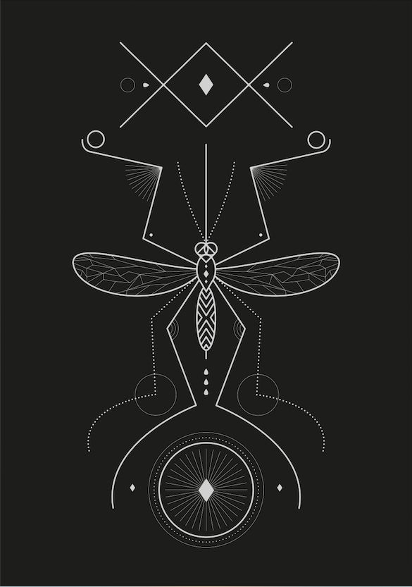 Linear #mosquito from the #bugs collection Print also available in a wide range or products at https://society6.com/product/mosquito-sf3_print#s6-8076324p4a1v45