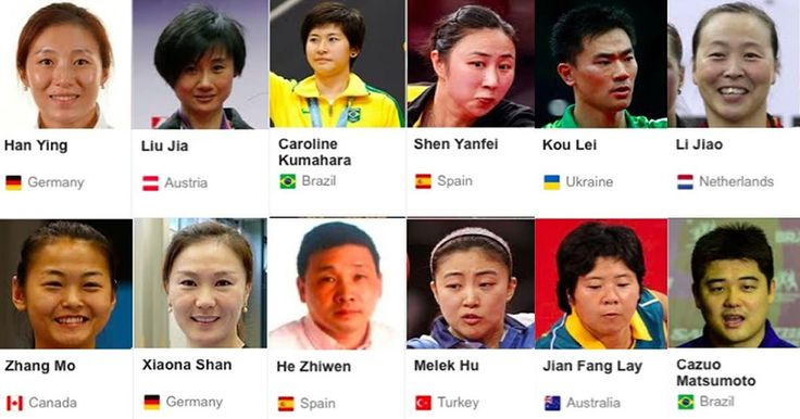 Crazy diversity at Olympic Table Tennis - #Rio2016 #Olympics