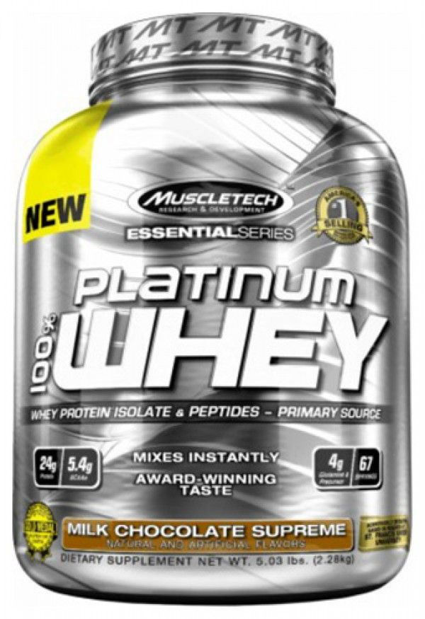 Muscletech Platinum 100% Whey protein. Take 1 scoop daily and enhance your muscle recovery programe after training.