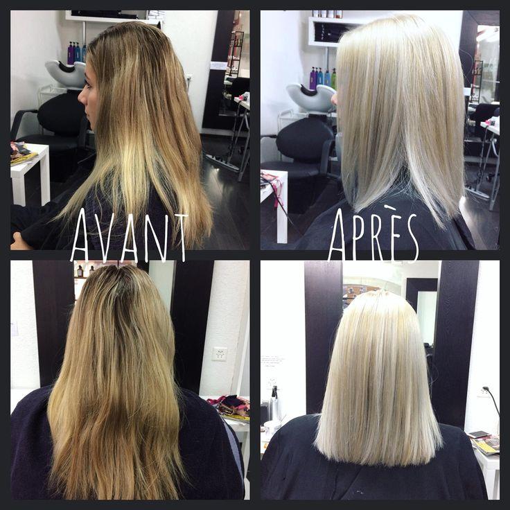 Blond platine. Cheveux blonds. Cheveux blancs. White hair