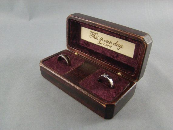Double Ring Box with Antique finish.  Free Shipping by MWBStudios, $45.00