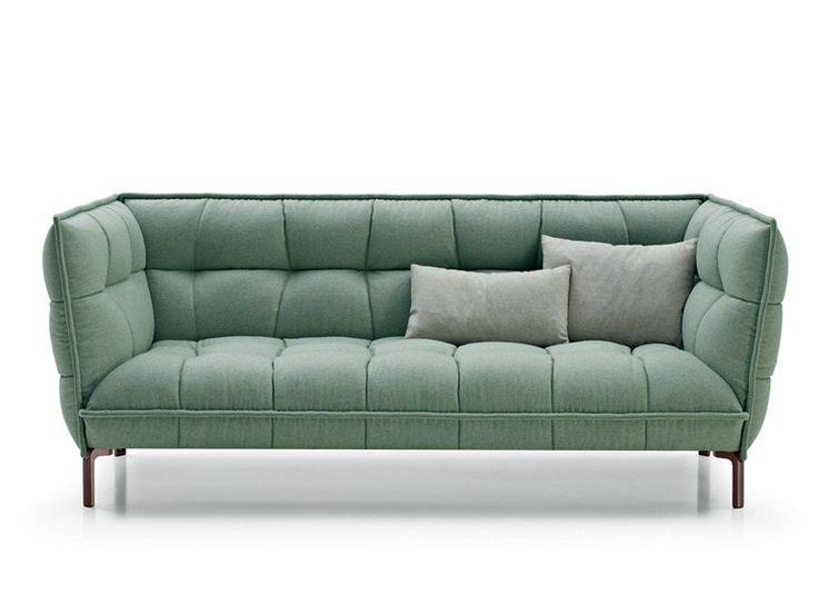 Kapitoniertes gepolstertes Sofa aus Stoff HUSK SOFA Kollektion Husk by B