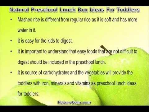This video describes about useful and natural preschool lunch box ideas for toddlers. You can find more detail about Home recipes at http://www.naturogain.com