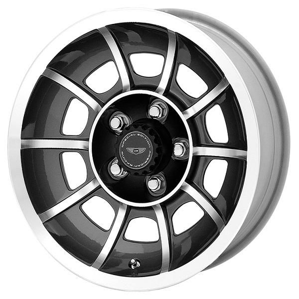 VN47 VECTOR ANTHRACITE RIM with MACHINED FACE by AMERICAN RACING WHEELS