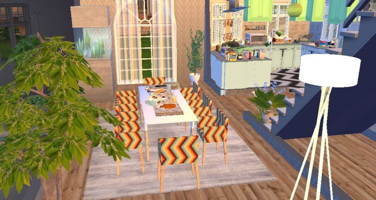 THE SIMS 4 HOUSE BUILDING CC ITA DINING ROOM