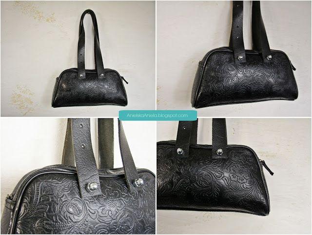 Diy tutorial how to make,fix,repair leather bag handles,jak doczepić, naprawić skórzane rączki do torebki?bez szycia! Diy