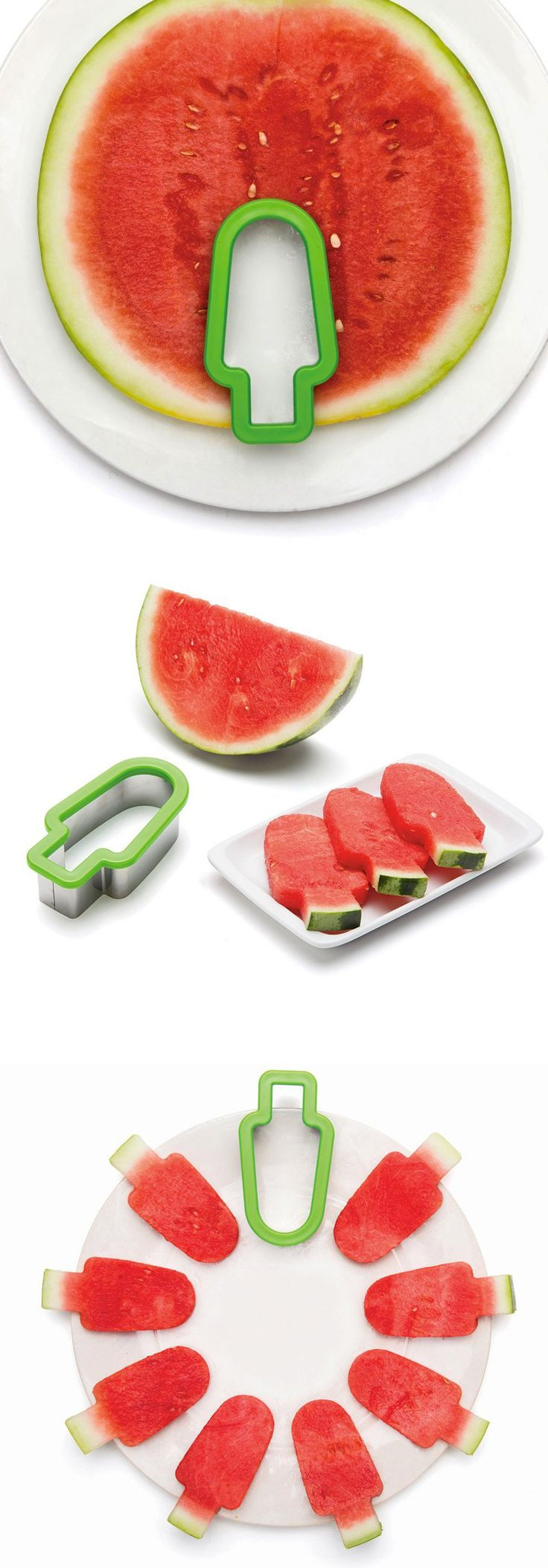 Watermelon popsicle slicer...fun way to serve up watermelon slices