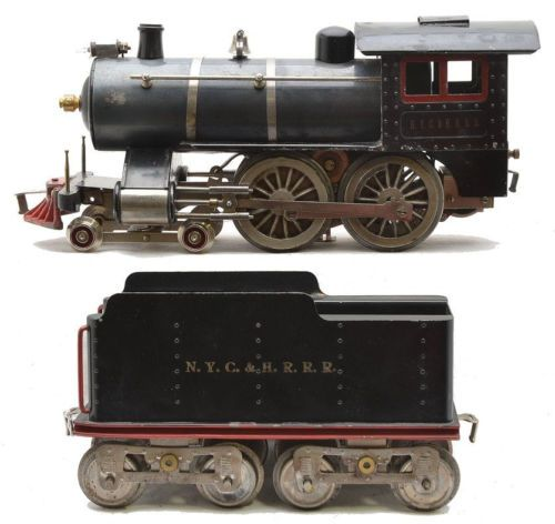 "Prewar Lionel Standard Gauge No.6 Engine,Tender ""NYC &HRRR"" C.1914  << early Lionel Standard Gauge, nice!"