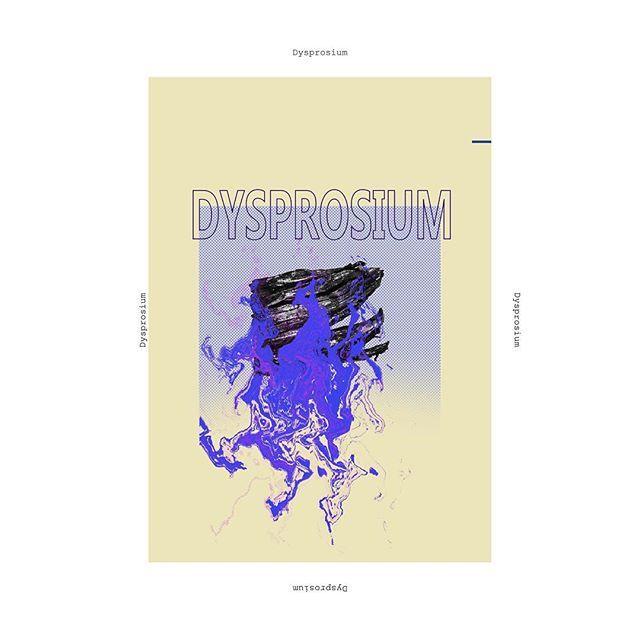 Dysprosium #graphics #graphicdesign #art #metal #metals #poster #posters #design #dysprosium #chemicalelements#visual