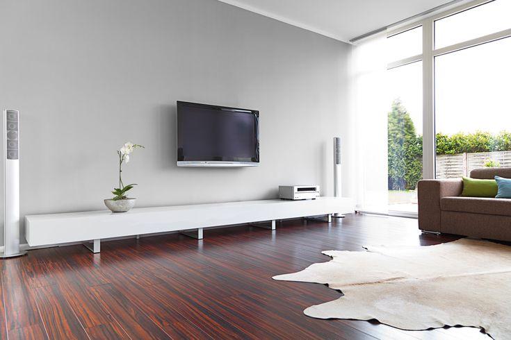 Laminaatvloer met Rode houtlook - vloerverwarming