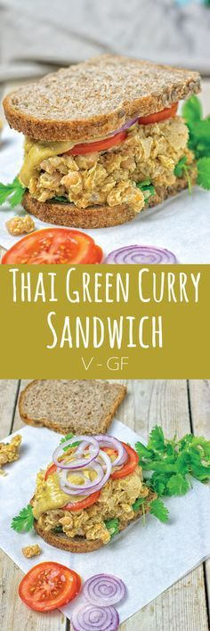 The world can't get enough of sandwiches and that's no surprise: you can never have enough portable lunches so now it's time to get in the loop and make my Thai Green Curry Sandwich. #vegan #glutenfree #lunch #dinner #sandwich #breakfast