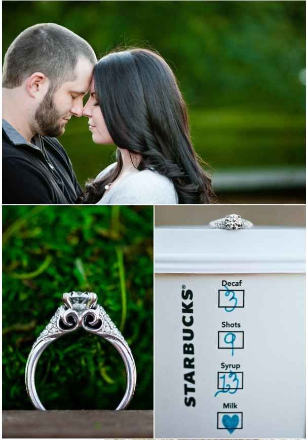 Let your favorite flavor costar in your engagement photo shoot.