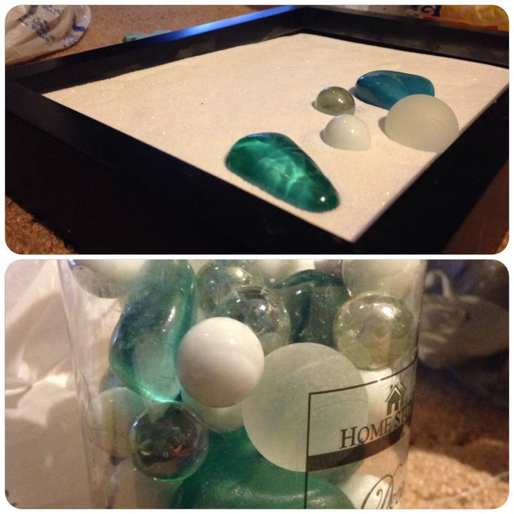 DIY Zen Garden using a picture frame, sand from a craft store, & any decor you choose. #zengarden #hobbylobby #diy