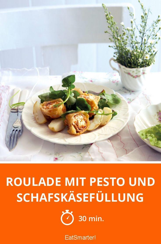 Roulade mit Pesto und Schafskäsefüllung - smarter - Zeit: 30 Min. | eatsmarter.de