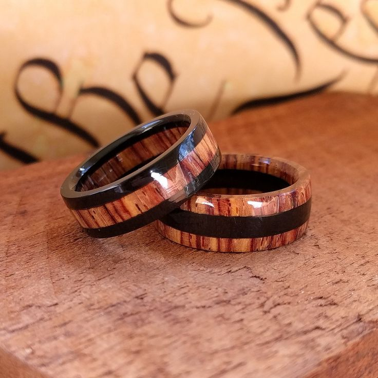 NEW! Cocobolo & Ebony rings available now!