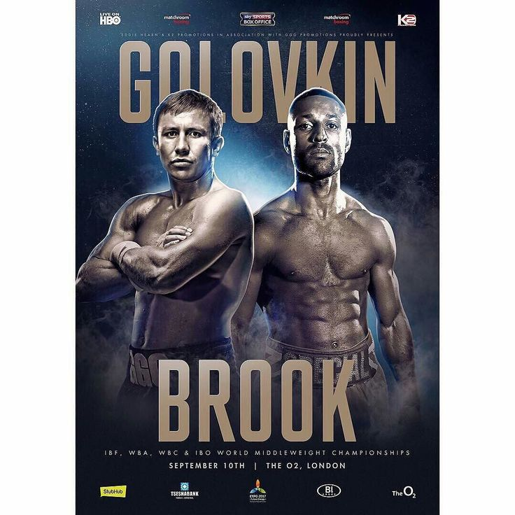 It's almost here! Middleweight kingpin Gennady Golovkin takes on undefeated Kell Brook in one of the years most anticipated and intriguing match-ups. Can Brook pull off the upset or will Golovkin add him to his long list of knockouts? Let us know your thoughts below #boxing #golovkinbrook