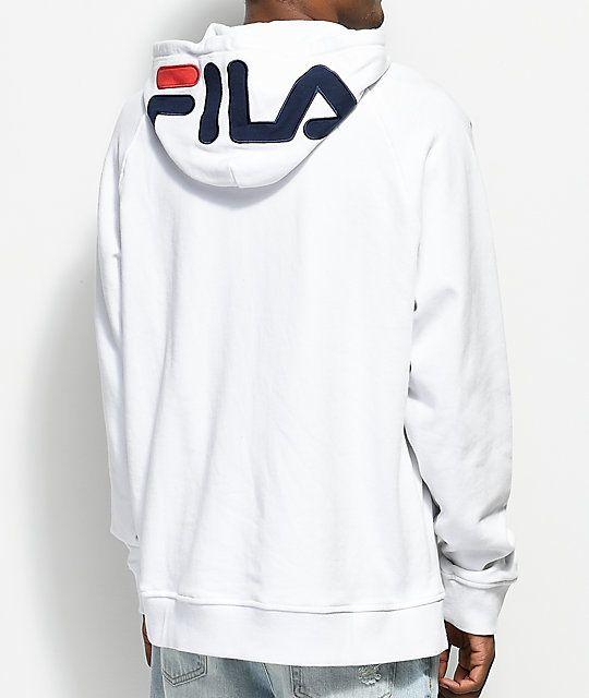 1605048c911d FILA Logo White Hoodie | @giftryapp | Christmas in 2019 | Hoodies ...