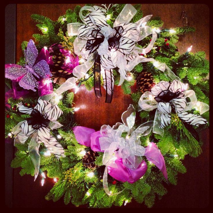 My annual Christmas wreath giving, buy the wreaths from Costco and then dress them up with lights, ribbons and whatever else suits my closest friends!! Best Christmad gift I usually give out... Get to personalize each one