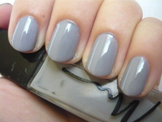 Nail Of The Day - Gris Desinvolte (Marionnaud nr.54 Gris Desinvolte nailpolish)  http://www.mybeautykiss.ro/NOTD26_GrisDesinvolte.php