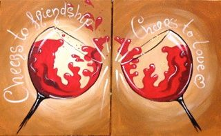 BYOB Painting Class: Besties on 3/29/2014 7:00:00 PM - at Paint Until You Faint