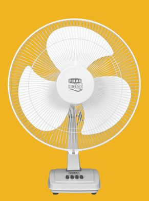 Polar Mistral Metal Table Fans are robust & sturdy and are powder coated for durability with high gloss for years to come.