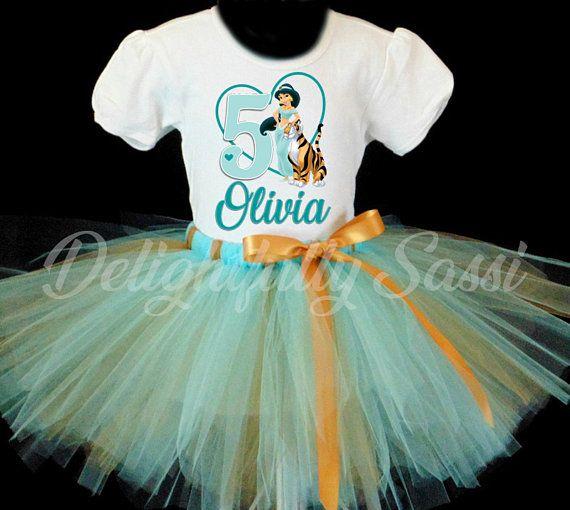 Princess Jasmine Birthday Outfit Tutu