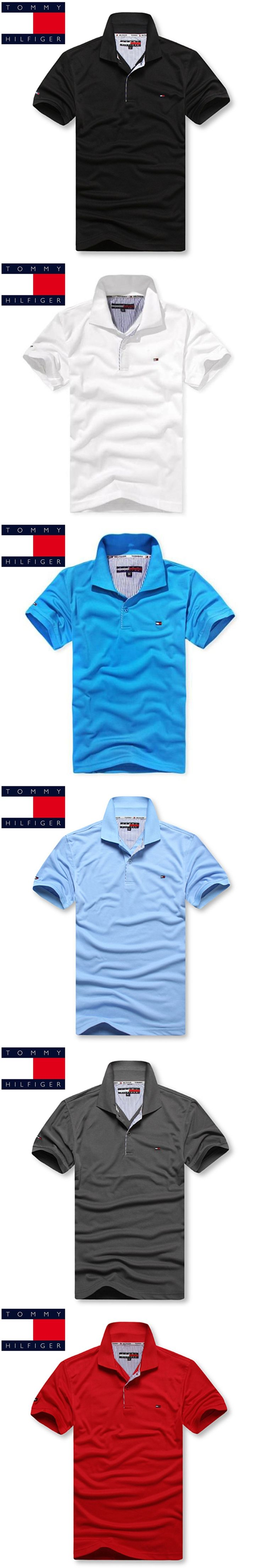 TOMMY HILFIGER 2018 New Arrival Hot Sale Polo Shirt Men Spring Summer 22 Colors Fashion Casual Short Sleeve Men Polo Size S-XXXL