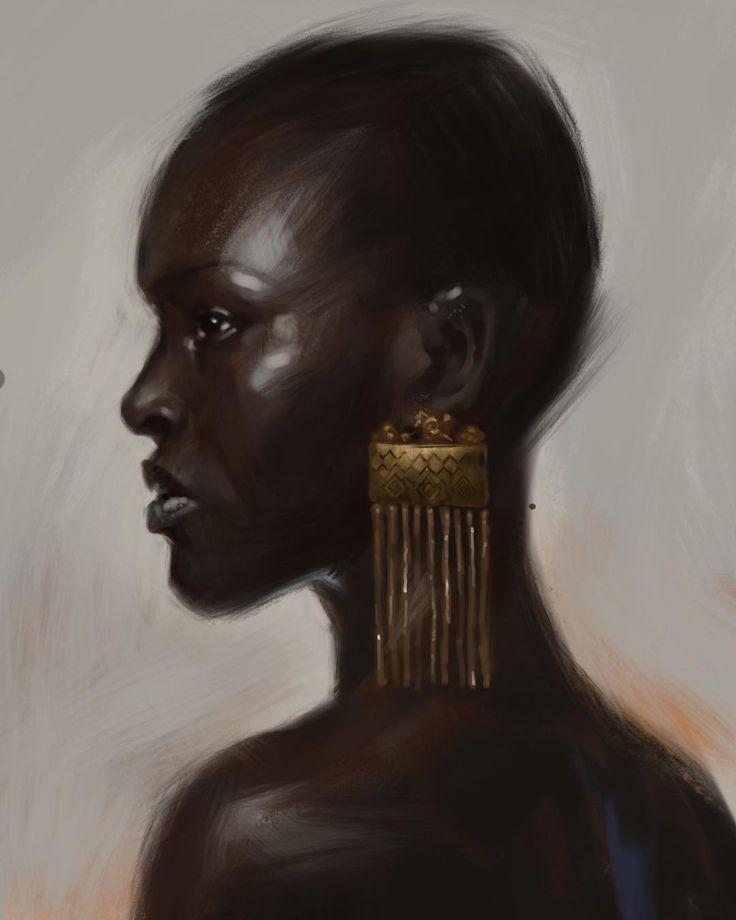 Study for #Mooeti character. . . . . . #african #africa #beautiful #blackwomen #model #beauty #black #blackbeauty #darkskin #africangirl #woman #girl #sexy #portrait #women #drawing #female #digitalpainting #digitalart #art #drawing #illustration #painting #artwork #sketch #digitaldrawing #instaart #instaartist