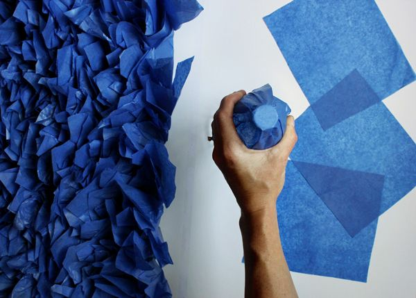 """DIY tissue backdrop -- I think this could be """"sky"""", """"water"""", or change color and make """"grass"""", """"sand"""", """"mountains"""", etc."""