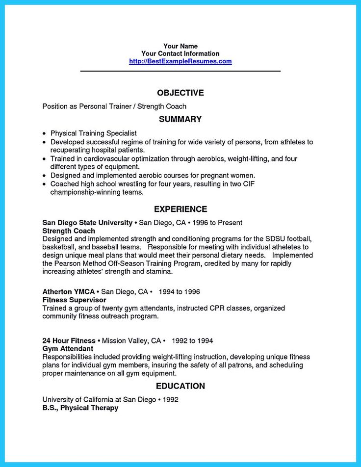 It Is Relatively Easy To Write An Athletic Training Resume To Write It Is Not Too Different From Other Resumes At The Early Parts You Only Need To Athlet